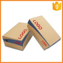 2016 Customized logo print corrugated shoe packaging box