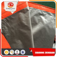 Heavy duty canvas Pe Tarpaulin Sliver woven fabric