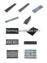 cast iron tree grates/ductile iron grating/cast iron trench drain grates