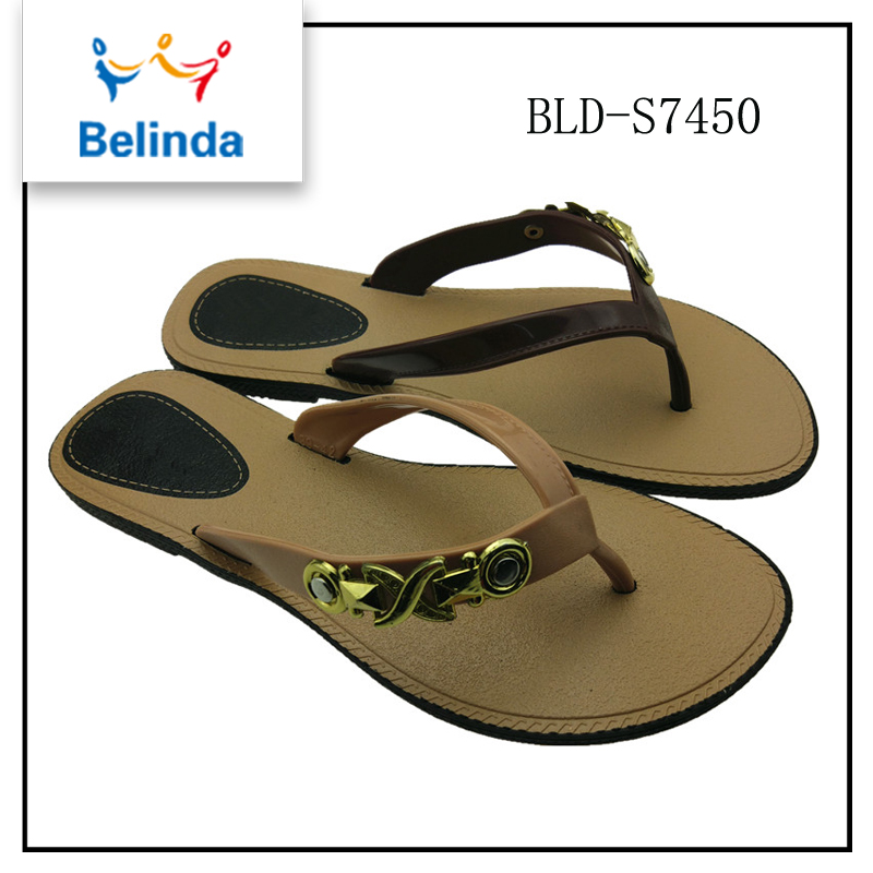wholesale india top selling plastic flat sandals one dollar