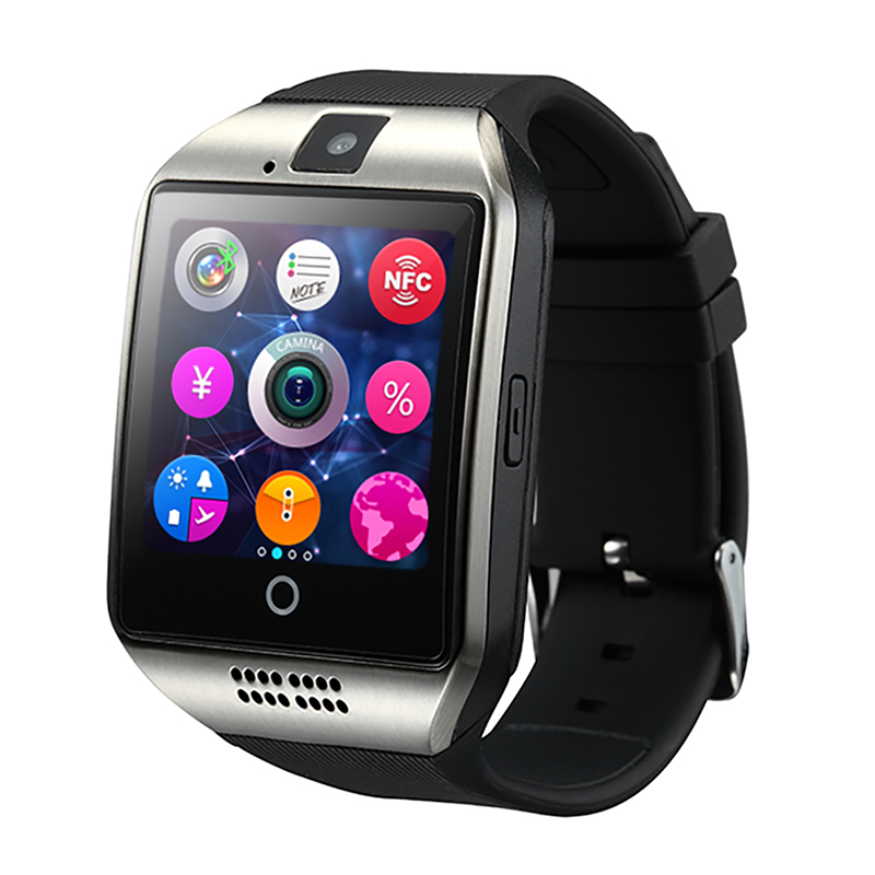 NFC GSM Sim Card Q18 Android Smart Watch Music Playing mobile Phone Calls Reminding for android and IOS