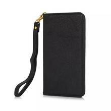 Book style universal leather flip phone case for iPhone smartphones mobile accessories with card slots