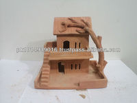 Miniature house - Clay house - Handmade Special Clay House - Gift - Home Decoration