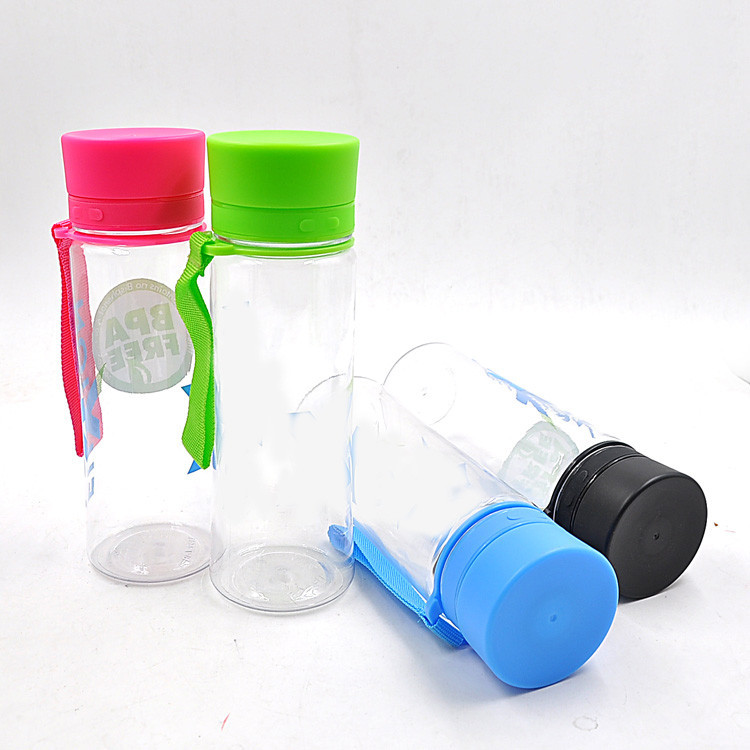 Latest item 400ml tritan sport bottle plastic water bottle with lanyard, food grade