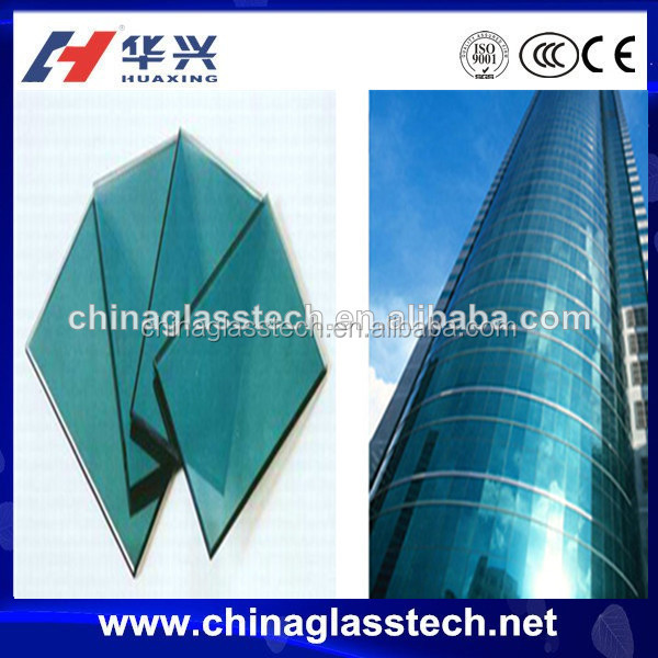 Modern building used exposed frame/hidden frame laminated glass unitized curtain wall
