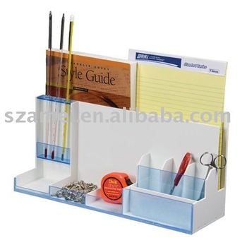 White multifunction acrylic desk organizer buy acrylic - Acrylic desk organizer ...