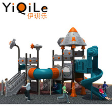 Juegos infantiles playground with curved slide playground slides and customized size plastic tunnel