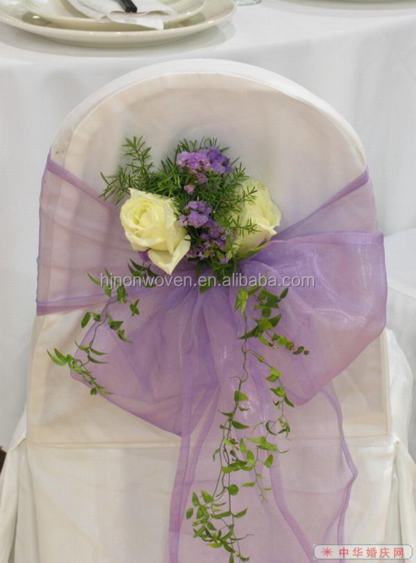 wired organza wedding chair sash