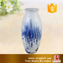 Antique chinese hand painting designs flower vases for hotels