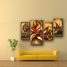 Newest stretched canvas art,group oil paintings flower designs