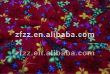 flower print Shu-velvet fleece fabric