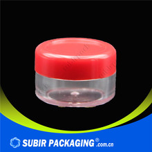 small round plastic eye cream cosmetic pp cream jars