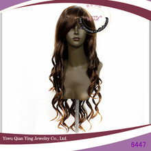 Fashion Brown Invisible Part Long Body Wave Wigs