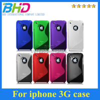 wholesale TPU skin s line pattern mobile case for 3G/3GS Cool