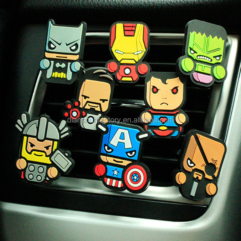 Air Condition Vent Superman Cartoon Car Styling The Avengers Perfume Marvel Style Air Freshener