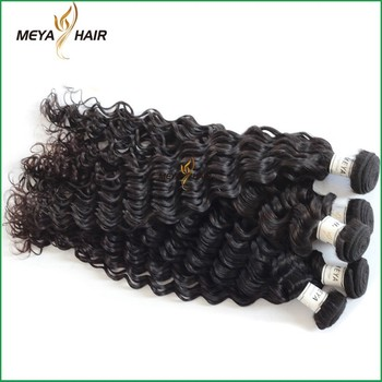 Top selling Malaysian remy hair extension deep wave use hair extension packaging bag