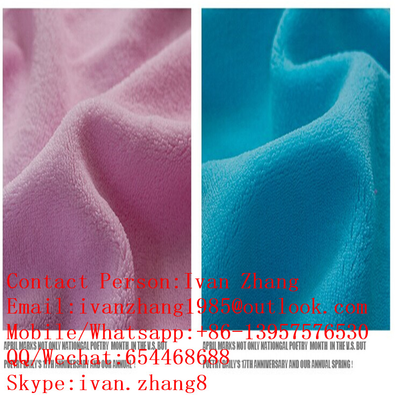 Coral Fleece Fabric for Garment,Blanket,Bathrobe,Home Textile,Shoes