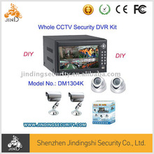(JD-DM1304K) DIY Whole CCTV 4CH DVR kit, Realtime Network 4CH H.264 DVR Kit