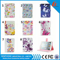 Wholesale Products China Flower Pattern TPU + PC Case Cover for iPad Pro Wallet Stand with Card Holder