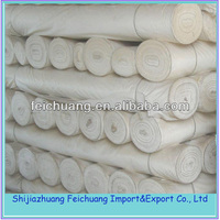 100% cotton muslin fabric white bleached fabric