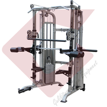 Smith Machine with Multifunctional Power Training Crossfit Racks with 100KGx2 Weight Stack