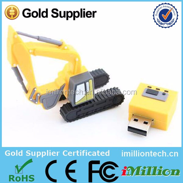 Excellent quality promotional excavator shape usb flash drive