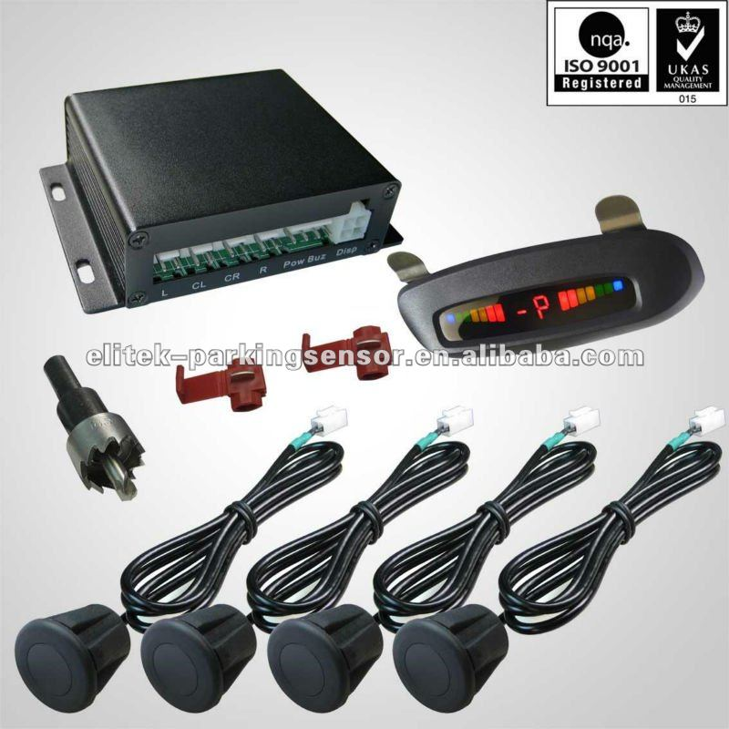 Roof mounted cm accuracy double angled car reverse parking sensor system