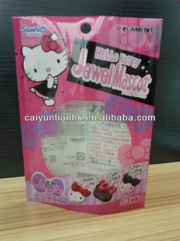 Hello Kitty packaging bags / Jewel packaging bags / Plastic Stand up pouch for mascot
