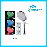 HY809 three functions chrome LED shower head