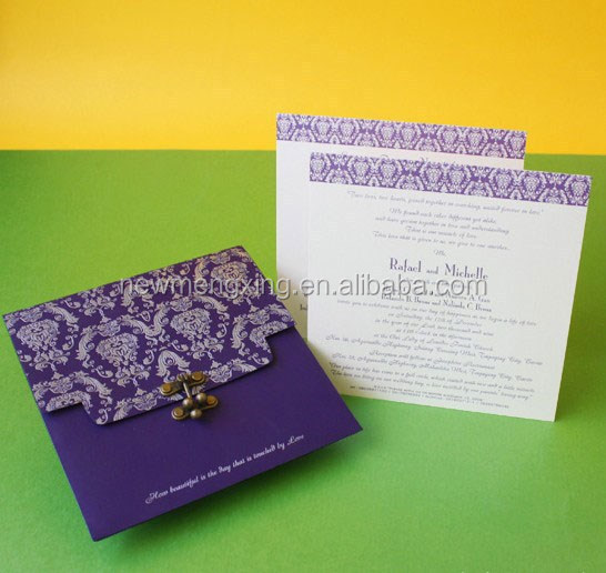 Special hot sale Idian style invitation card for wedding