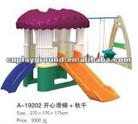 (A-19202)mush room slide day care center indoor plastic slide fun learning games for 6 year olds