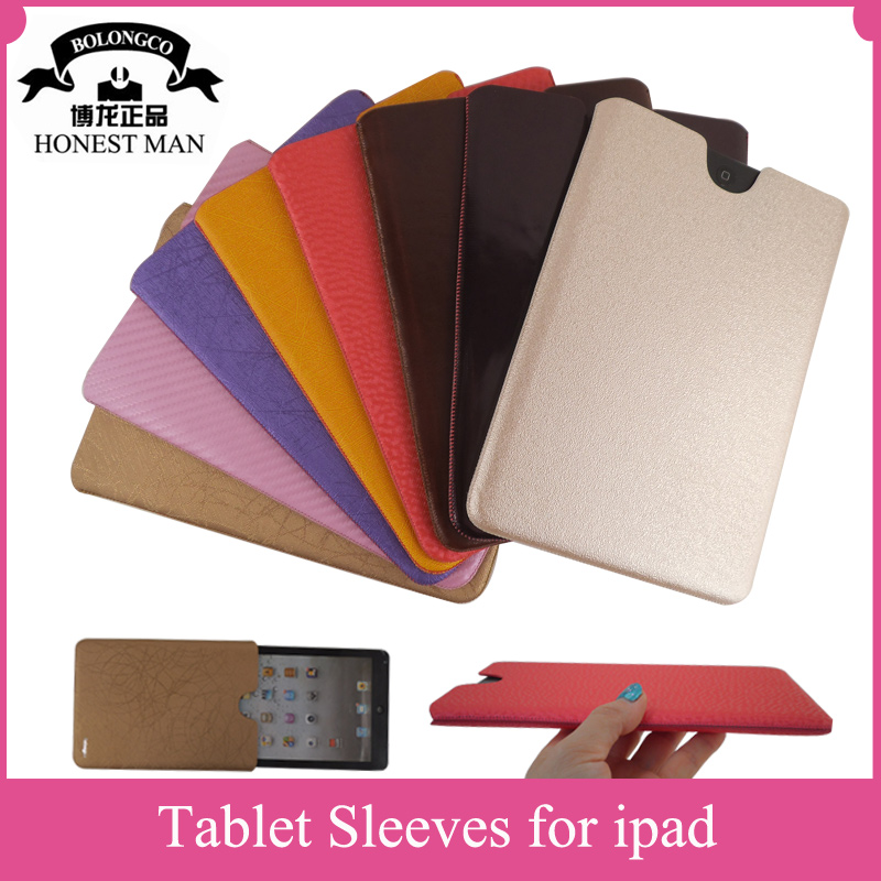 Colorful leather accessories for ipad handmade sleeves for ipad mini protective case for ipad air