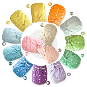 2016 Wholesale Baby Solid Nappy Fashion Pattern Baby Cloth Diaper Pocket Double Row Type Baby Nappy Suede Cloth Inner 100 sets