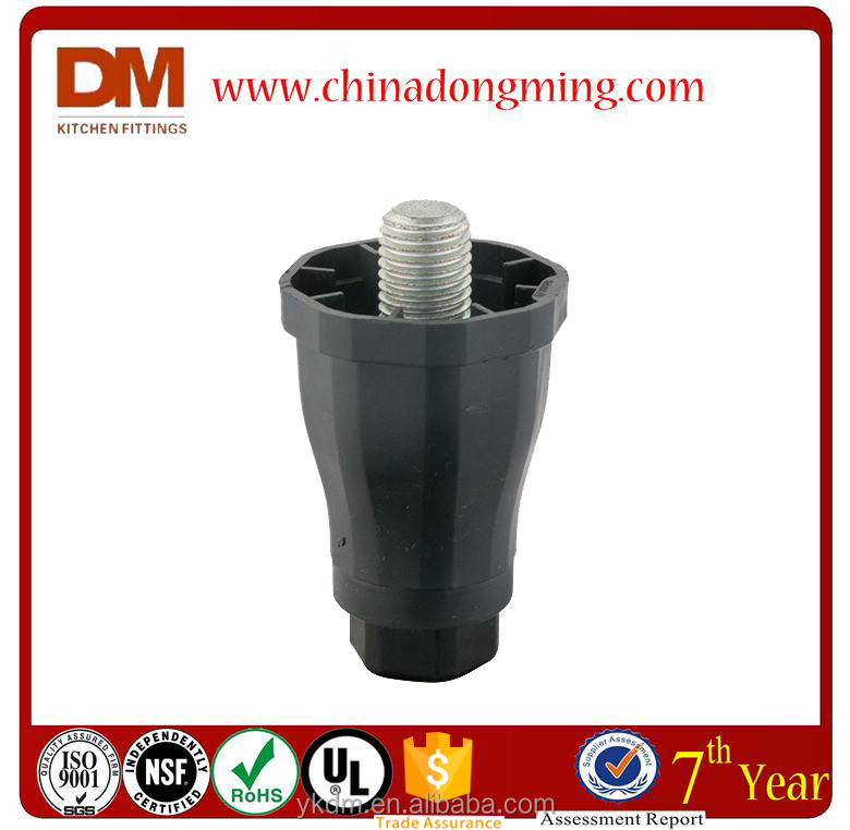 adjust tapered plastic cabinet legs screw