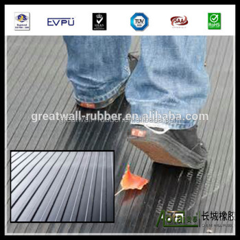 Wide Ribbed anti slip Rubber Sheet with high quality ribbed rubber flooring mat