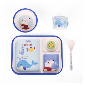 Taizhou SHALL cartoon kids dinner melamine divided plate set