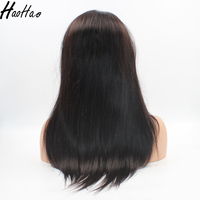 18inch natural color straight no tangle no shedding full cuticle virgin indian 100 percent human hair wigs for black women
