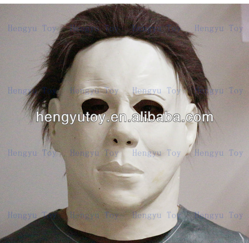 Latex Scary Halloween II Michael Myers Mask with hair