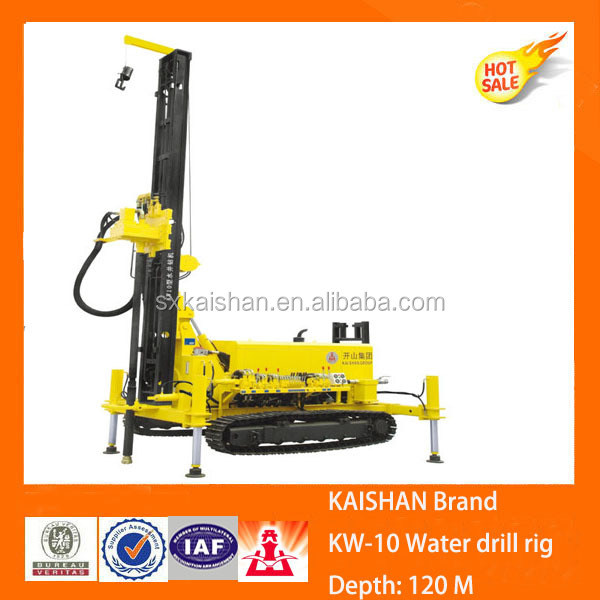 Kaishan Brand KW10 DTH Air Drilling Equipment / Crawler Type Drilling Rig