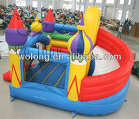 top popular 2013 air bouncer inflatable trampoline/ inflatable bouncer with Rotating Slide