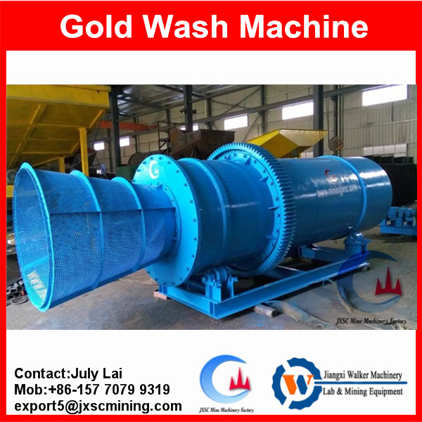Heavy duty gold extraction machine,sticky clay trommel machine for Africa gold mine concentration