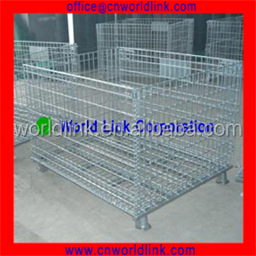 Heavy Duty Folding Wire Steel Equipment Storage Cages