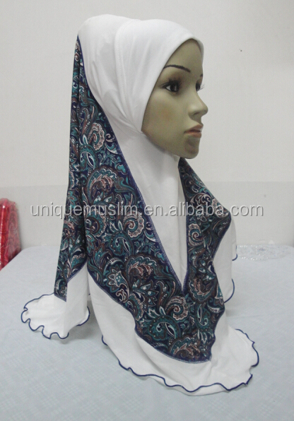 H285 new style one piece hijab with prints