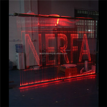 led fiber curtain light curtain waterfall light 8 colors changing for home/hotel/restaurant application