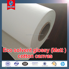 Eco solvent matt 100% cotton art canvas roll