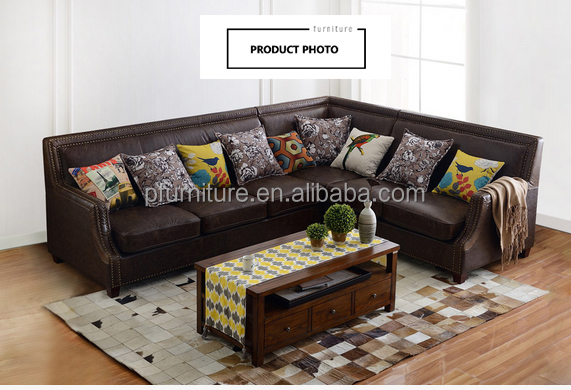 Living Room PU leather Corner Sofa L Shape Sofa