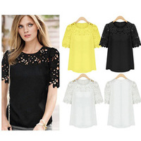 Walson Instyles New Womens Loose Long Sleeve Sexy Lace T Shirt Casual Blouse Ladies Tops UK 6-18
