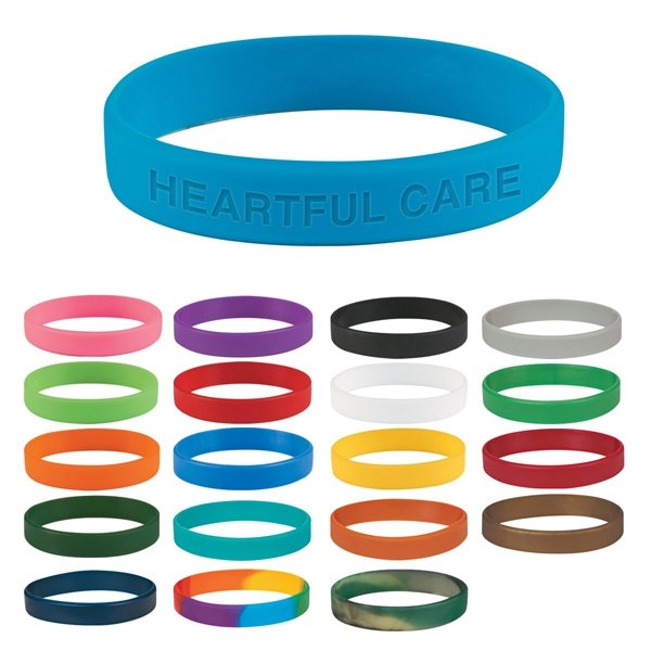 Personalized Breast cancer awareness silicone bracelet, silicone wristband, single color silicone bracelets