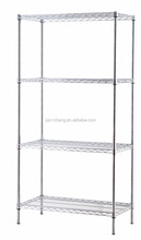 Stand Chrome plated 4 Tier Heavy Duty industrial Wire Shelving Racks