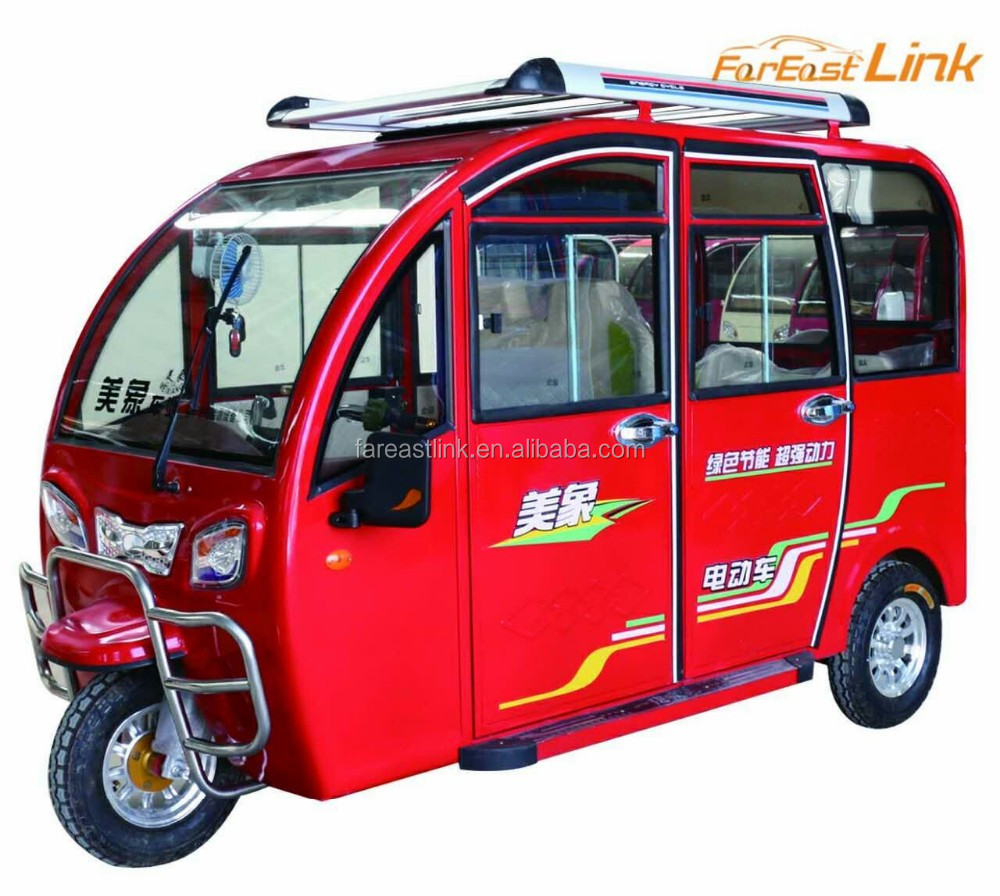 passenger close electric tuk tuk tricycle for adult for sale